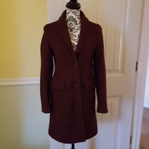 Lands End Wool and Rayon Coat in Plum